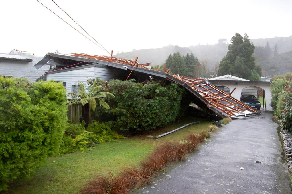 The roof flipped over 180 degrees.