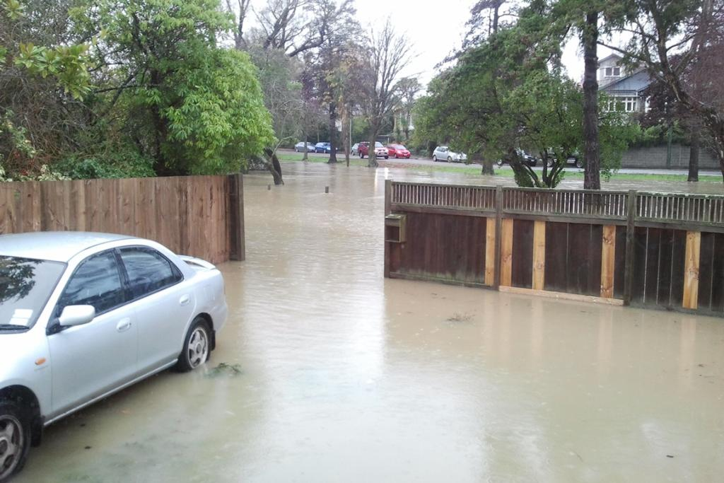 Flooding in Hunter Tce, Christchurch.