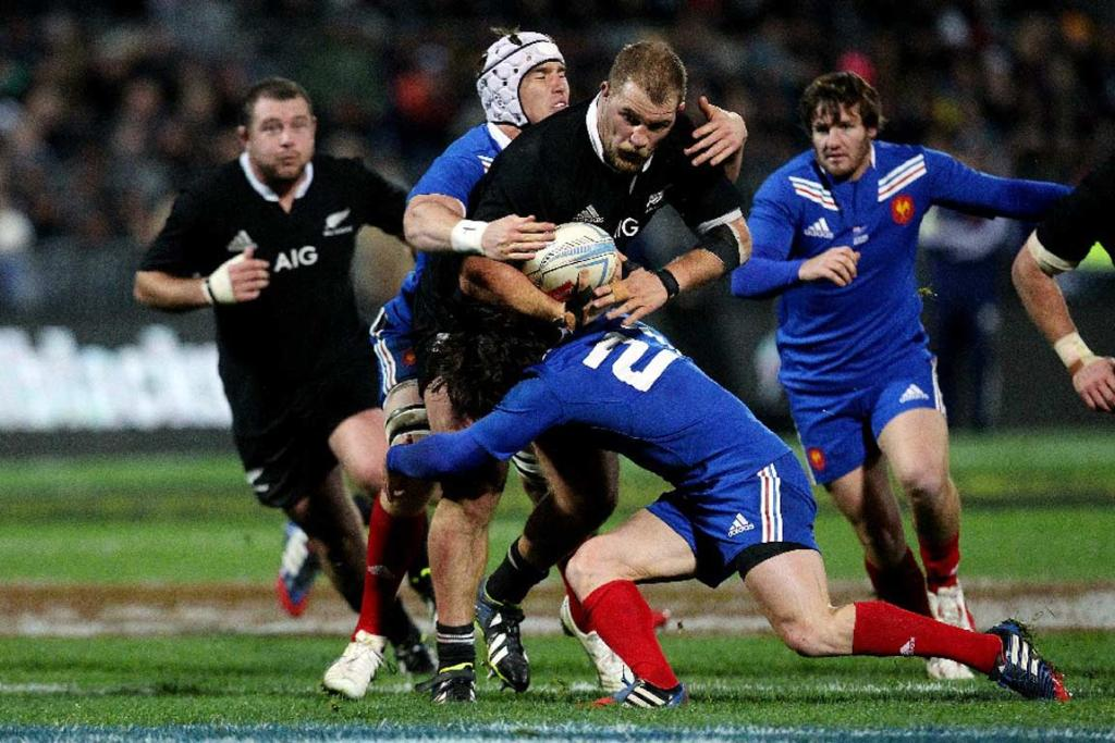 All Blacks prop Owen Franks proves difficult to bring down.