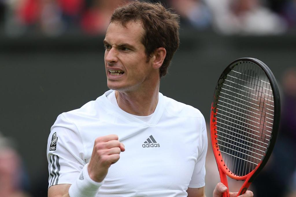 Andy Murray wins in straight sets in the first round of Wimbledon 2013, proving he can handle the pressure of British expectations.