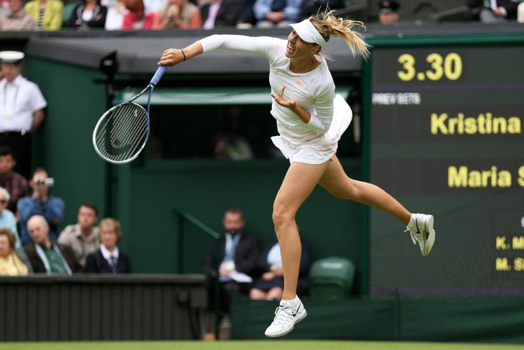 Glamour girl Maria Sharapova made it through easily enough, keeping up her record of never losing in the first round at Wimbledon.