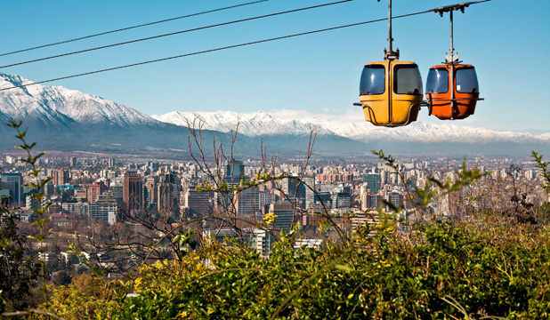 Santiago is close to the Andes, which makes for very handy skifields, and only 90 minutes from the coast.