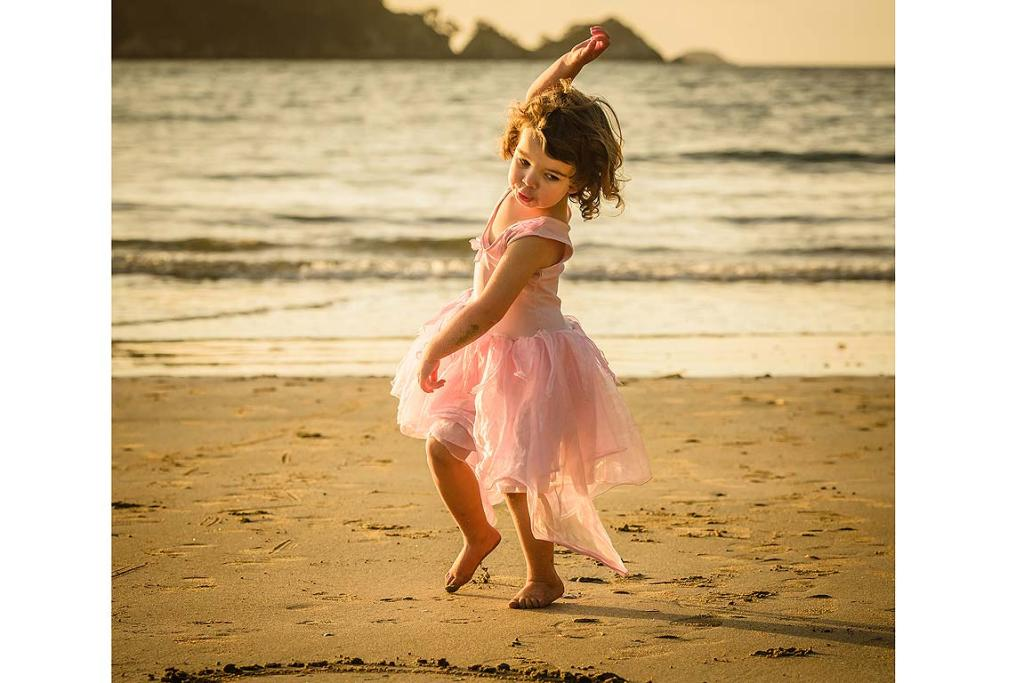 PHOTO OPPORTUNITY: Peter captured daughter Eva dancing on Little Oneroa beach after she had been given a fairy costume.