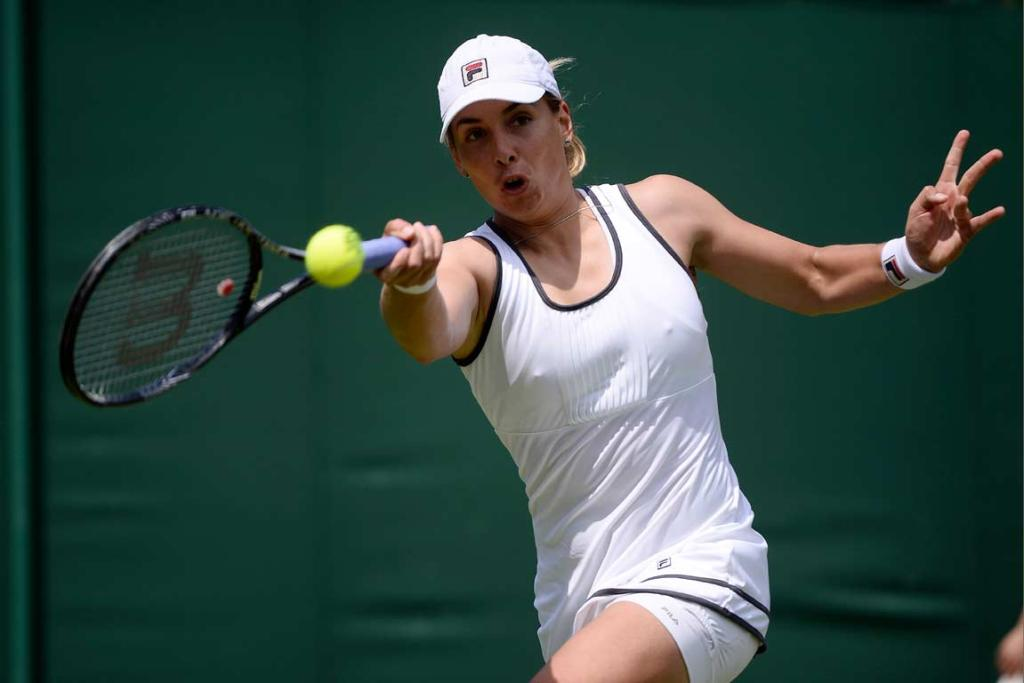 Marina Erakovic hit 12 aces and 40 winners as she got past Japan's Ayumi Morita in the first round.