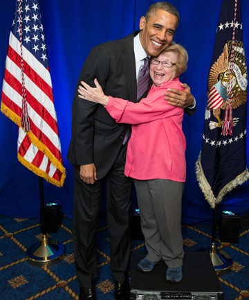 I was kissed by President Obama. I haven't washed my face since.