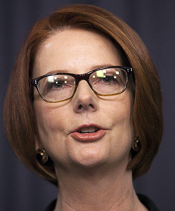 OUSTED: Julia Gillard addresses the media after losing the Australian Labor Party leadership ballot.