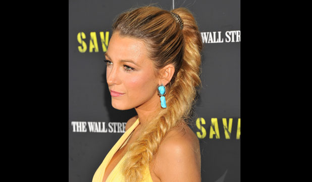 FISHTAIL FAKE: Want Blake's look but without having to leg it to the salon? Number three's your answer...
