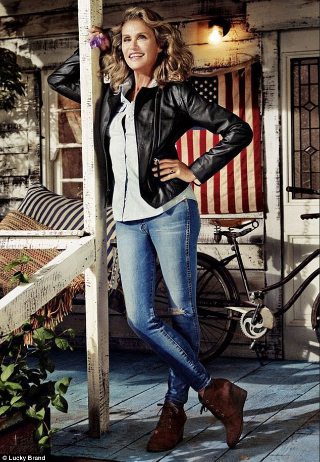 OWNING THOSE JEANS: Hutton starring in the Lucky Brand campaign.