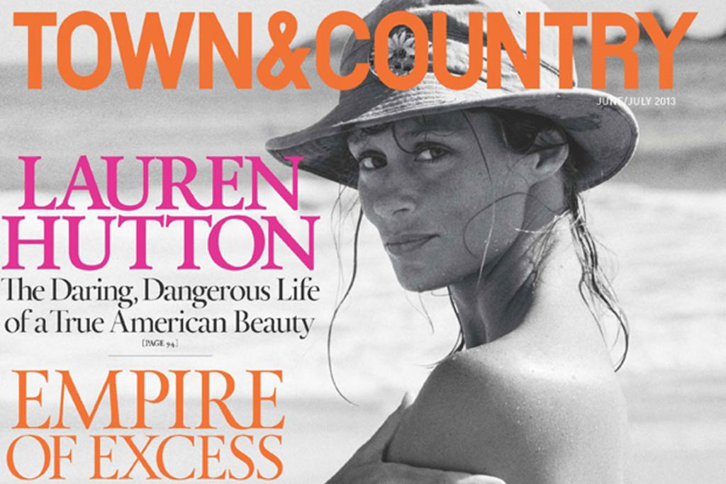 VINTAGE BEAUTY: A photo of Hutton from 1968 on the cover of Town & Country June/July 2013.