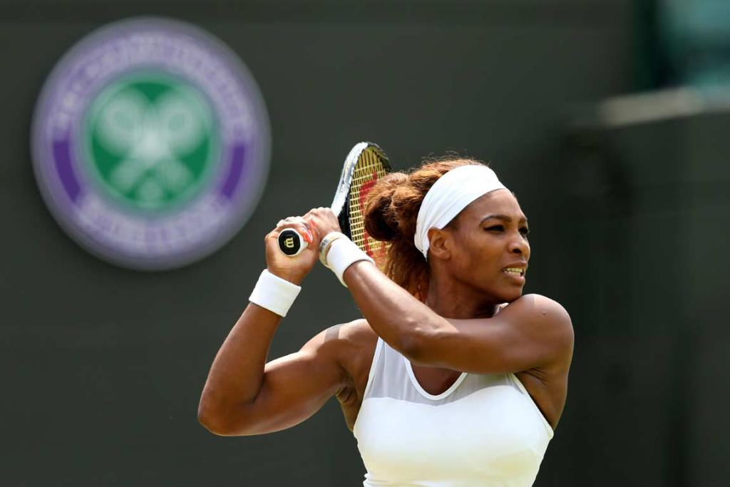 Serena Williams avoided the string of upsets taking out top seeds at Wimbledon, beating Caroline Garcia 6-3 6-2 in the second round.