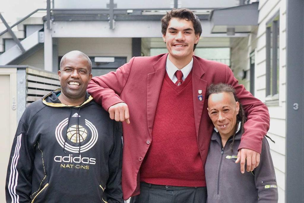 Coaching mentor Kenny McFadden and trainer and caregiver Blossom Cameron have been influential in Steven Adams' rise.