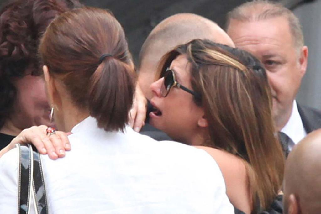 Jamie-Lynn Sigler at James Gandolfini Funeral