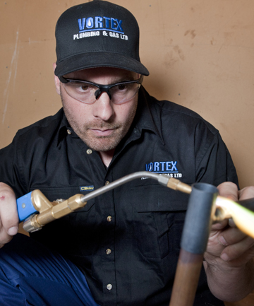 DONE RIGHT: Plumber Richard Dilks, from Vortex Plumbing and Gas, is a qualified plumber, drain-layer and gasfitter.