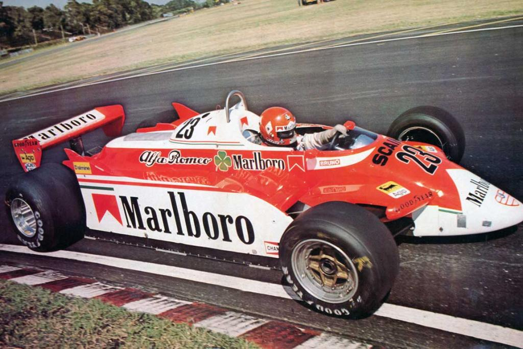 Alfa Romeo 179: In F1, modern advertising tended to overwhelm the famous Alfa Romeo QV symbol.