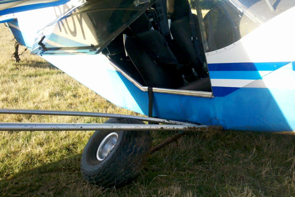 The plane's undercarriage was destroyed in the crash.