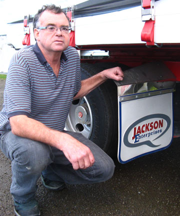 Trevor Jackson, from Jackson Enterprises, truck builders, in Queen St, Pahiatua.
