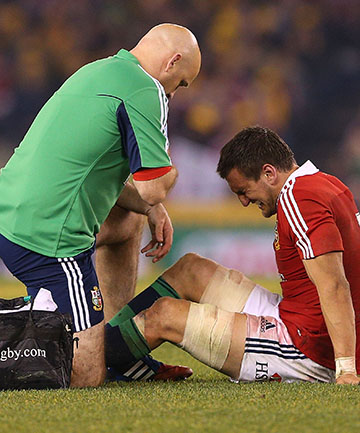 MAJOR CONCERN: Sam Warburton will have scans on his knee to determine whether he will be fit for the deciding test.