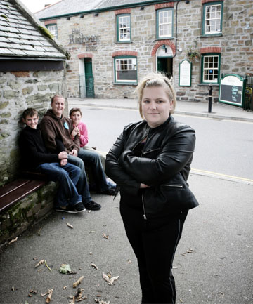 """ROLE PLAY: Wife Swap UK will feature several scenarios including Samantha Stevens, who swaps her brood and thriving pub in Cornwall for life as breadwinner of her """"new"""" family."""
