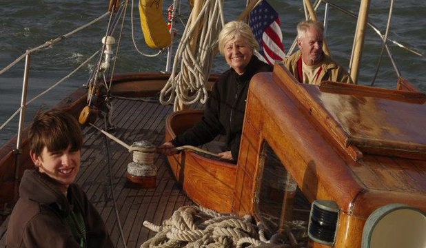 MISSING: From left David Dyche IV, 17, Rosemary Dyche, 60, David Dyche III, 58, cruising on the Nina.