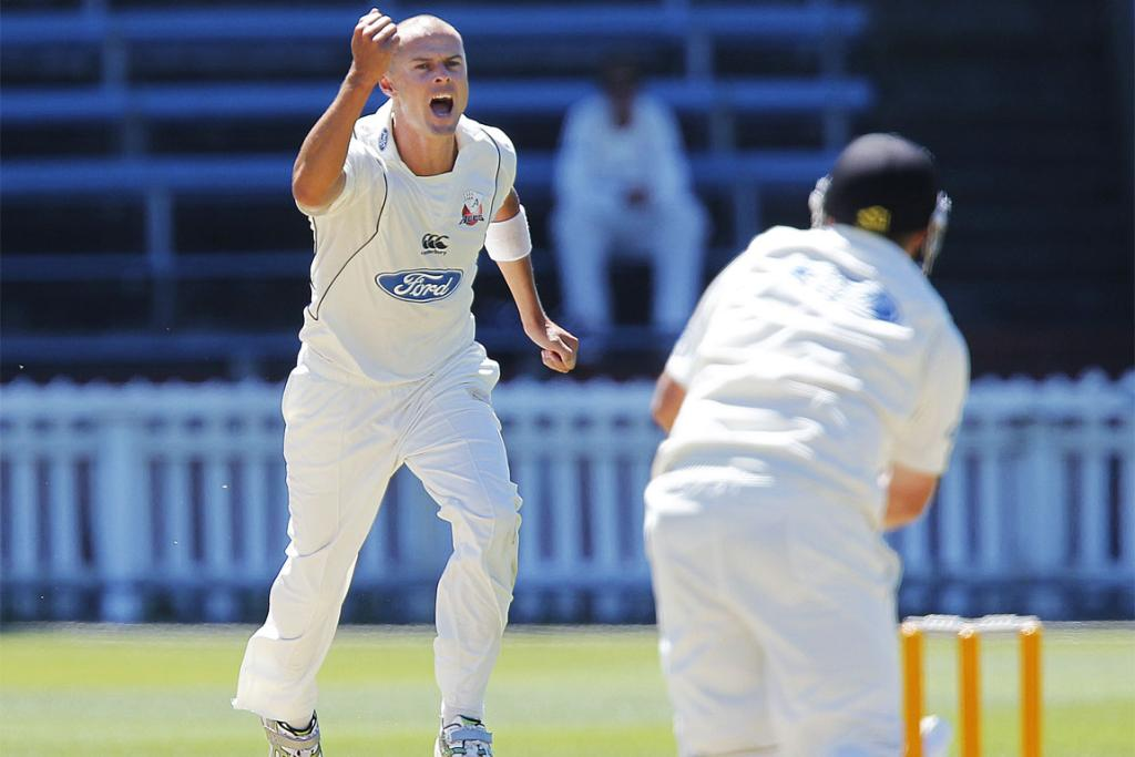 Chris Martin in action for Auckland against Wellington at the Basin Reserve earlier this year.