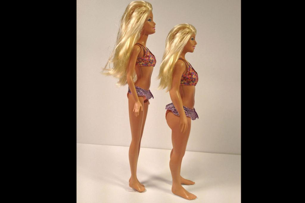 Barbie with real-life proportions