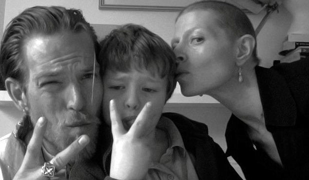 SPECIAL MEMORIES: Sean Brosnan posted this photo of himself with sister Charlotte and her son Lucas on his Facebook page.