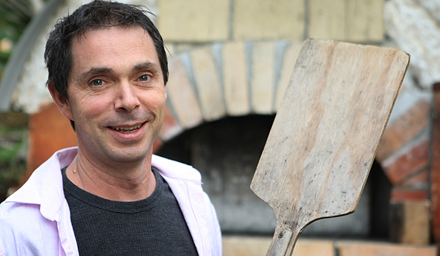 MASTER CHEF: Aaron Brunet loves bread and pizza recipes, and has a pizza oven at his Raglan home.