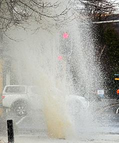 Burst water main