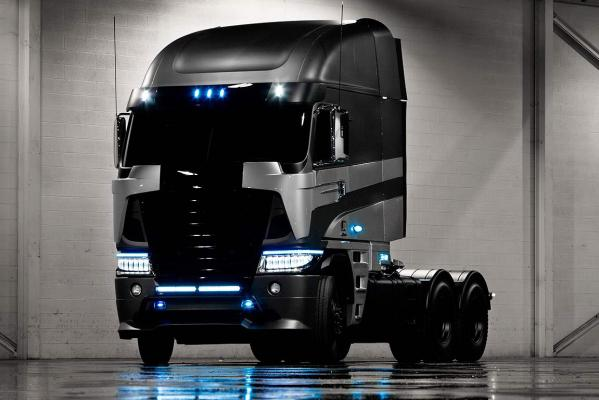 This imposing 2014 Argosy cab-over truck by Freightliner from Daimler Trucks North America will appear in Transformers 4.