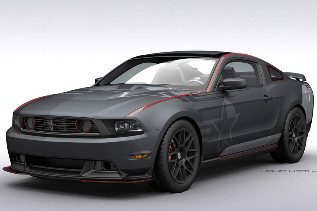 Ford's 2011 Mustang GT that was inspired by the SR-71 Blackbird.