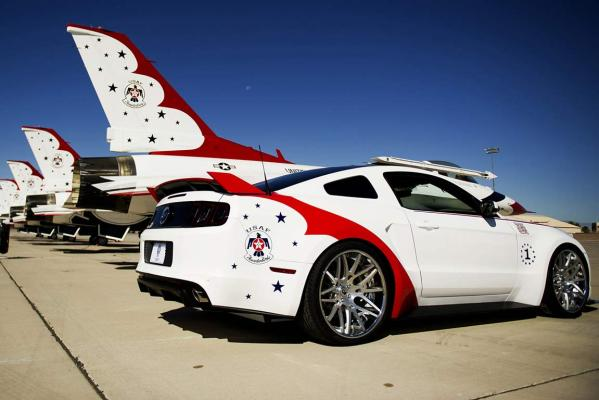 Ford's unique US Air Force Thunderbirds Edition 2014 Ford Mustang GT.