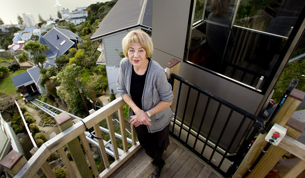 BAGGAGE CONVEYOR: Linda Forrest says the cable car at her Roseneath home  is vital to her B&B business.