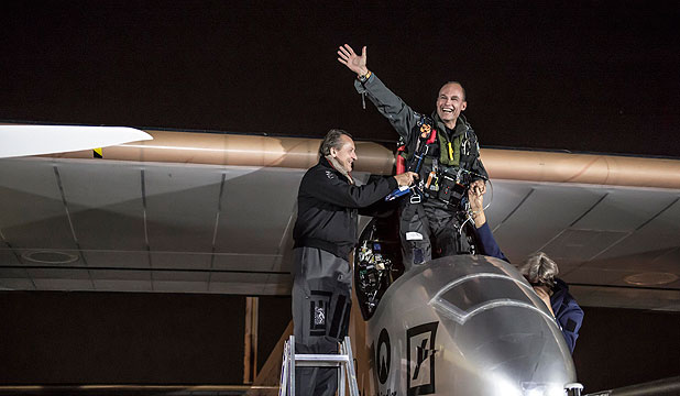 Andre Borschberg and co-pilot Bertrand Piccard