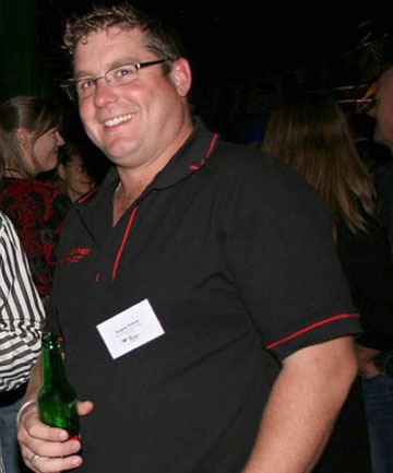 BEFORE:  Angus Petrie at 120kg before he ''caught the fitness bug'' and became a mountain biker.