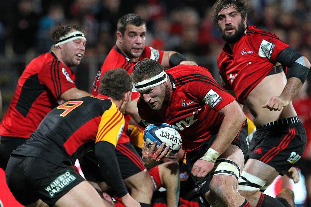 Crusaders Kieran Read on his way to the try-line.