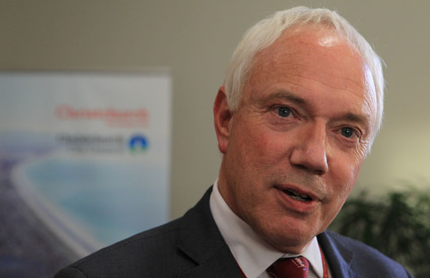 Christchurch Mayor Bob Parker speaks at a press conference this week on the consents debacle.