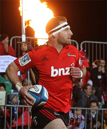 ON A CRUSADE: Kieran Read leading out his side on Friday night.