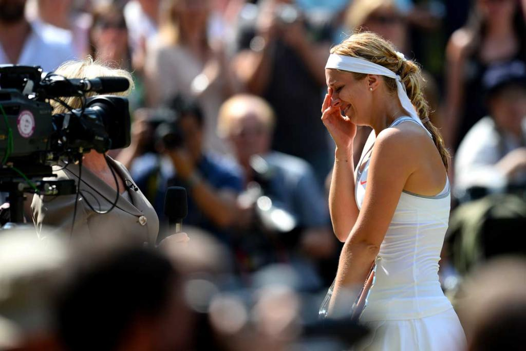 Sabine Lisicki shed more tears, this time after losing in the final.