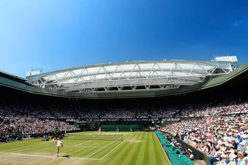 Clear blue skies hang over Wimbledon for the ladies singles final.
