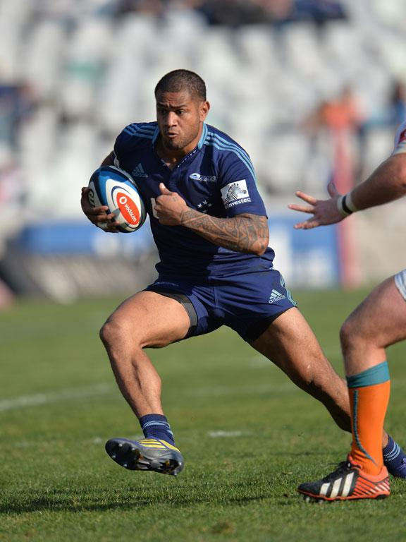 Frank Halai of the Blues in action during their game against the Cheetahs.