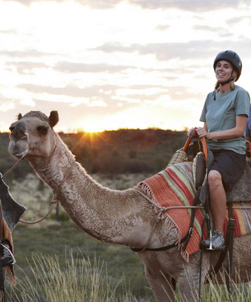 ROCKING RIDE: . Each camel can take two riders, but the heavier person must ride on the back.