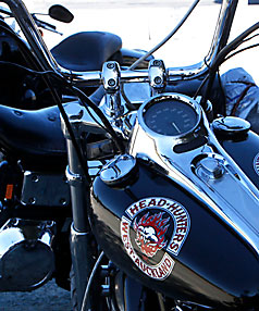 MOTORCYCLE GANG: The Head Hunters have more than 120 members.