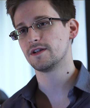 SPEAKING OUT: National Security Agency whistleblower Edward Snowden.