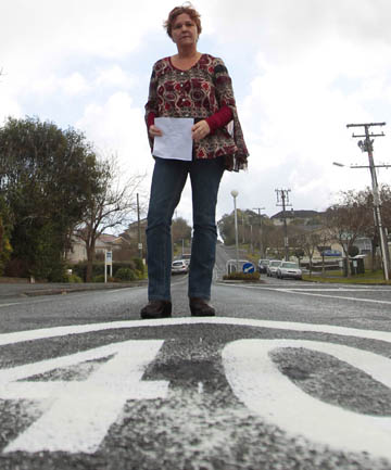 WET PAINT: New road markings have appeared along Dinsdale Rd since a speed camera snapped Donna Hawkins doing 52kmh in the zone, which she says had been poorly signposted.