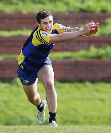 IN DOUBT: TJ Perenara limped out of Hurricanes training ahead of their final game of the season against the Crusaders.
