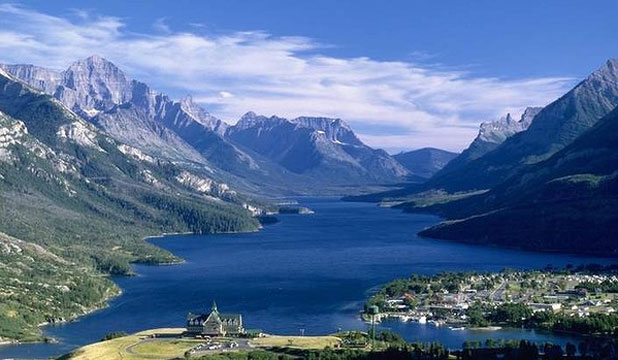 RAW ATTRACTION: Waterton Lake and the landmark Prince of Wales Hotel.