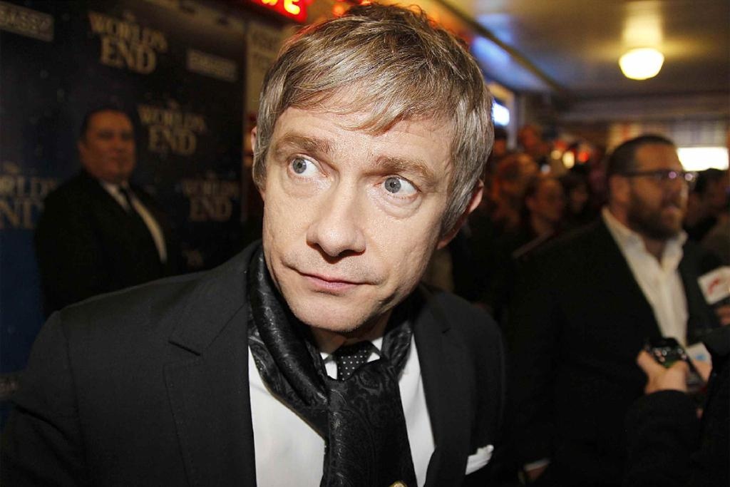 The World's End and Hobbit star Martin Freeman on the red carpet.
