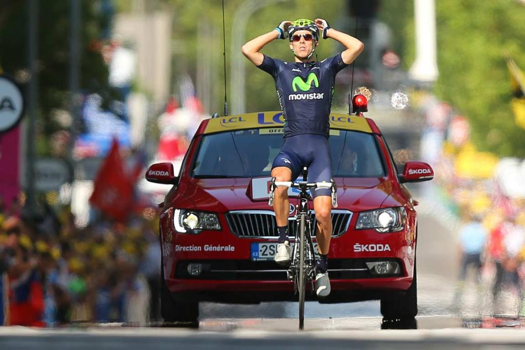 Rui Costa's solo break paid off as he claimed the 16th stage.