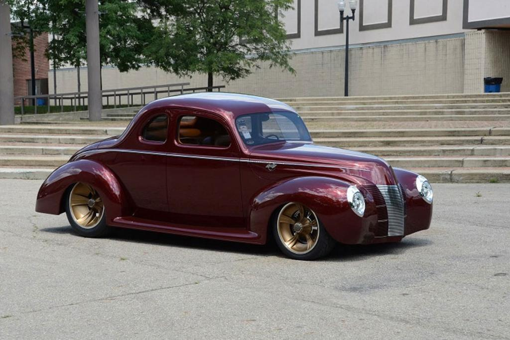 Ron Cizek's award-winning 1940 Ford coupe dubbed Checkered Past.