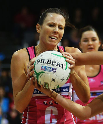 BOWING OUT: Natalie von Bertouch in action for the Adelaide Thunderbirds.